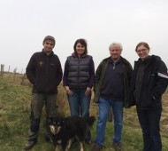 Judith Patrick, Gen Manager West Yorkshire Countryside, Alyssa Young  and Rob NT with Ashley Jackson